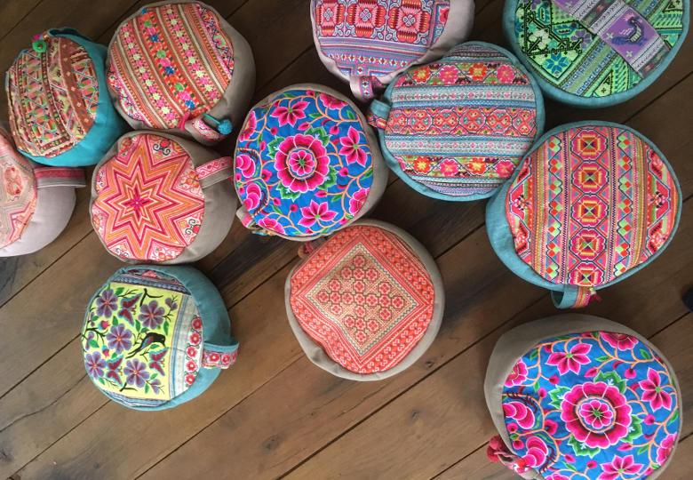 Meditatiekussens van atelier Chica Bonita